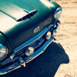 Royalty-Free Stock Photo: Top view of fragment of a classic vintage car