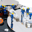 Stock Photo: Hard disk repair concept