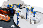 Hard disk repair concept — Stock Photo