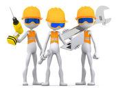 Industrial contractors workers team — Stock Photo
