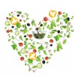 Vegetable heart — Stock Photo