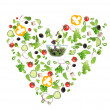 Stock Photo: Vegetable heart