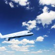 Airplane in the sky — Stock Photo