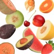 Stock Photo: Fruit background