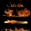 Real Fire flame collection — Stock Photo