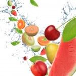Fresh fruit in motion — Stock Photo