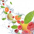 Fresh fruit in motion — Stock Photo #7206828