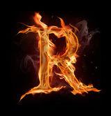 Fire alphabet — Stock Photo