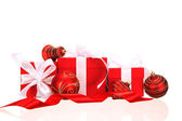 Red gifts — Stock Photo