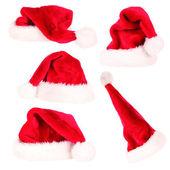 Santa şapka koleksiyonu — Stok fotoğraf