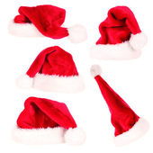 Santa cap collection — Stock Photo
