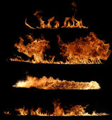 настоящая коллекция пламя огня — Стоковое фото