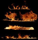 Coleção de chamas de fogo real — Foto Stock