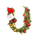 Kerstmis alfabet brief — Stockfoto