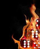 Dados en fuego — Foto de Stock