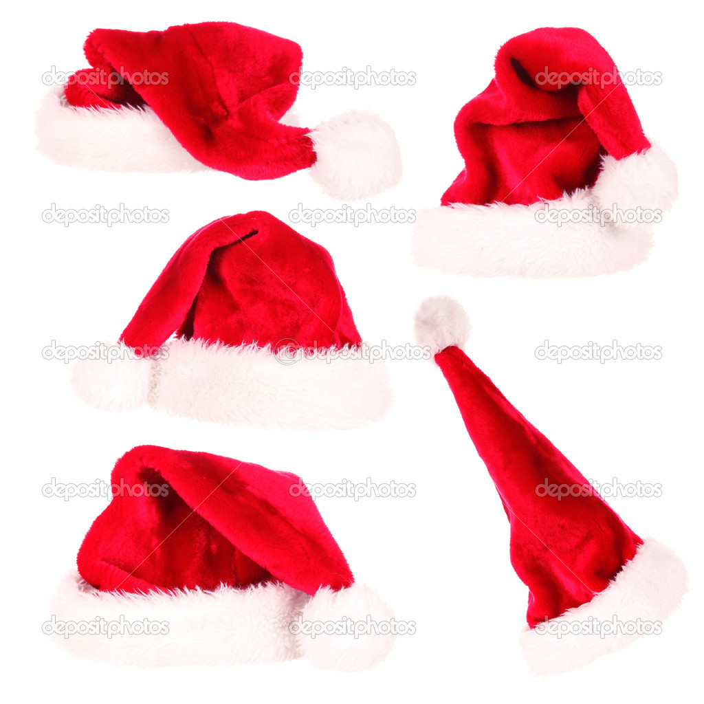 Santa cap collection  Stock Photo #7201164