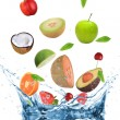 Foto Stock: Fresh fruit in motion