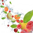 Fresh fruit in motion — Stok Fotoğraf #7215060