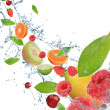 Fresh fruit in motion — Stock Photo