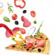 Making a pizza — Stock Photo