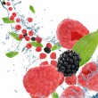 Fresh fruit in motion - Foto Stock