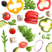 Fresh vegetable background. — Stock Photo