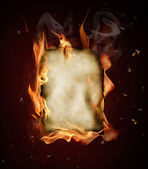 Old burning paper — Stock Photo