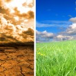 Global warming effect — Stock Photo