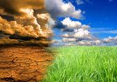 Efecto del calentamiento global — Foto de Stock