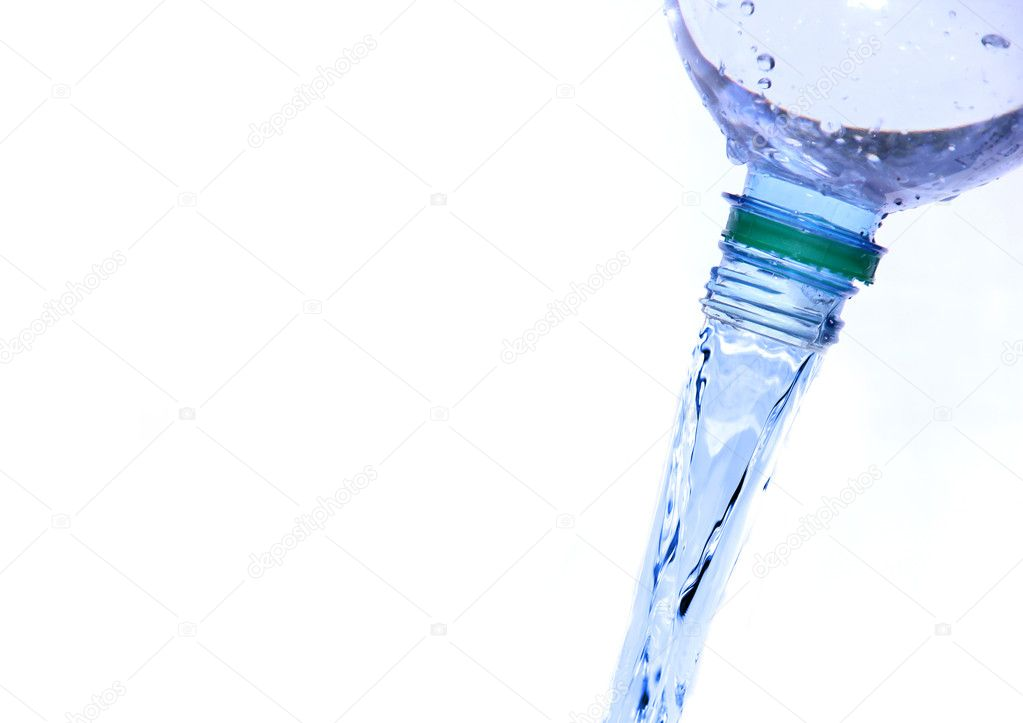 PET bottle with drinking water isolated on white  Stock Photo #7222488