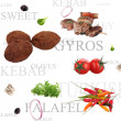 Orient food background — Stock Photo