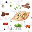 Orient food background - Stock Photo