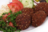 Tasty falafels meal — Stock Photo