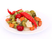 Pickles on white — Stock Photo