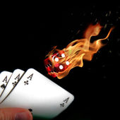 Flaming dices — Stock Photo