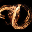 Fire flames on a black background — Stock Photo #7644049