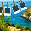 Photo frames with holiday theme - Stock Photo