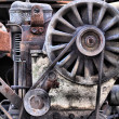 Stock Photo: Old rusty engine
