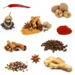 Collection of various spices - Foto Stock