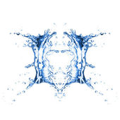 Water splash isolated on a white background — Stock Photo
