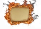 燃烧旧纸 — 图库照片