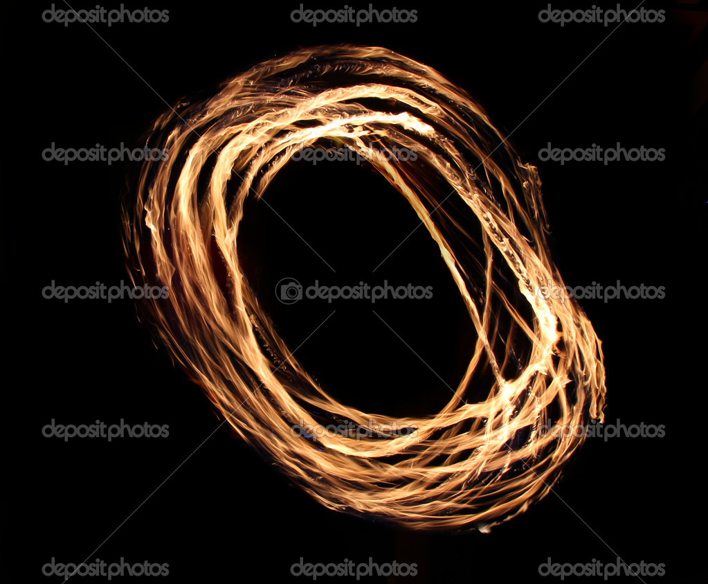 Fire flames on a black background — Stock Photo #7644040