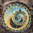 Astronomical clock isolated on white - Stok fotoraf
