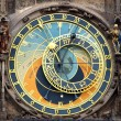 Astronomical clock isolated on white - Foto Stock