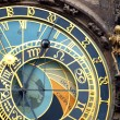 Astronomical clock isolated on white - 图库照片