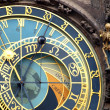 Astronomical clock isolated on white - Stock Photo