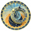 Astronomical clock isolated on white — Stock Photo
