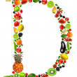 Fruit letter d - Foto Stock