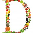 Stock Photo: Fruit letter d