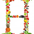 Fruit letter h — Stock Photo